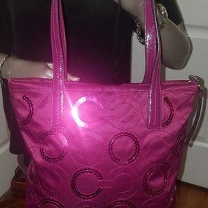 Coach Bags - Rare COACH Sequin Tote Purse
